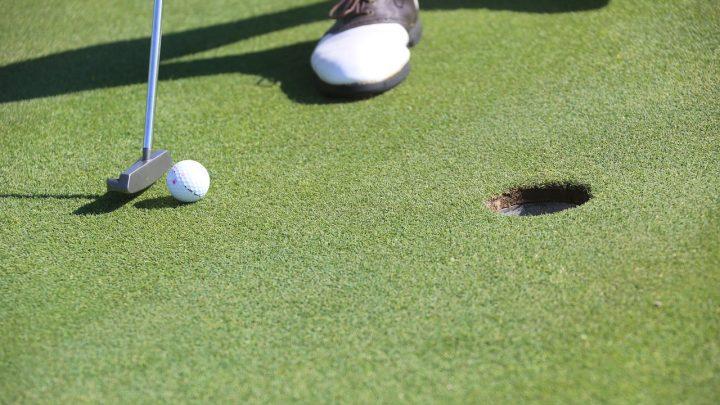 golf, putting, hole